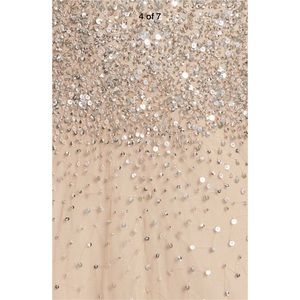 Adrianna Papell Dresses - New Adrianna Papell beaded halter gown champagne